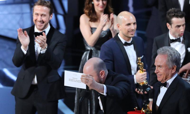 Oscars 2017: La cara de Ryan Gosling tras el 'no' Oscar de 'La La Land'