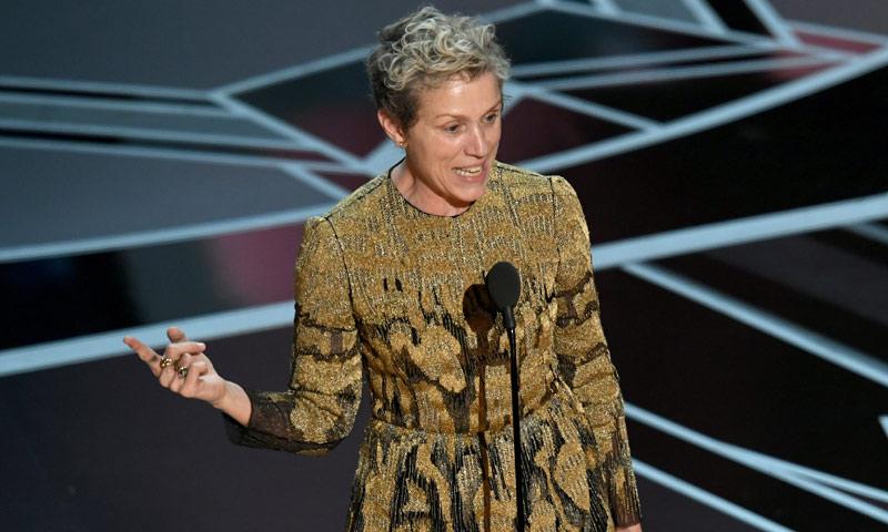 Oscar 2018: Todas las nominadas se unen a Frances McDormand en el momento más feminista de la noche