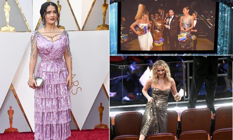 Joyas millonarias, la actriz más ágil y un abrazo de consuelo... los momentazos que siempre recordaremos de los Oscar 2018