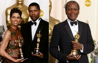Halle Berry, Sydney Poitier y Denzel Washington