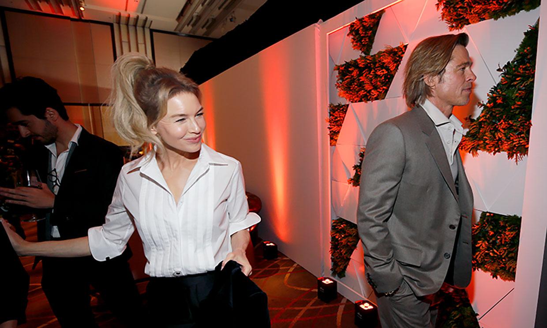 Antonio Banderas y Almodóvar, grandes ausentes del almuerzo de los Oscar en el que Brad Pitt y Renée Zellweger fueron protagonistas