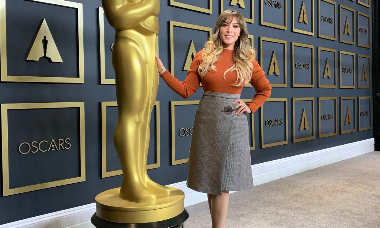 Gisela habla en exclusiva para HOLA.com de los Oscar: 'Estarán sentados delante de mí Brad Pitt y Di Caprio'