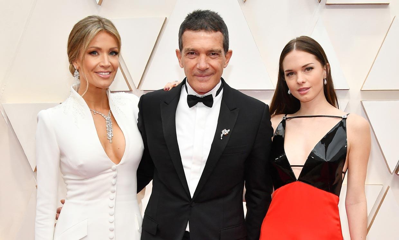 Stella y Nicole, los dos talismanes de Antonio Banderas en los Oscar