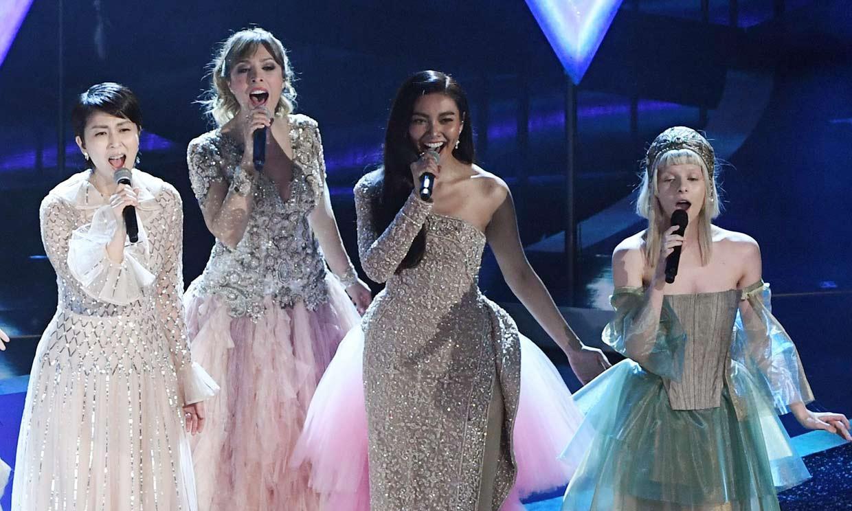 Un vestido joya y una actuación de princesas... Gisela llena de magia el escenario