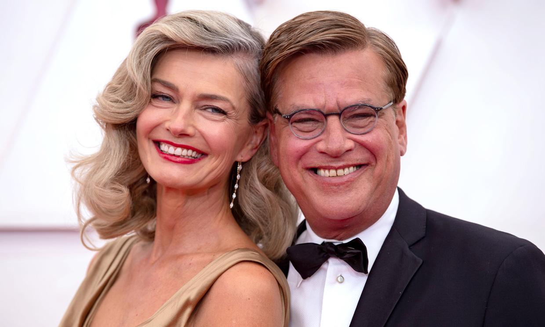 ¡Nueva pareja en Hollywood! Aaron Sorkin y Paulina Porizkova dan la campanada en los Oscar