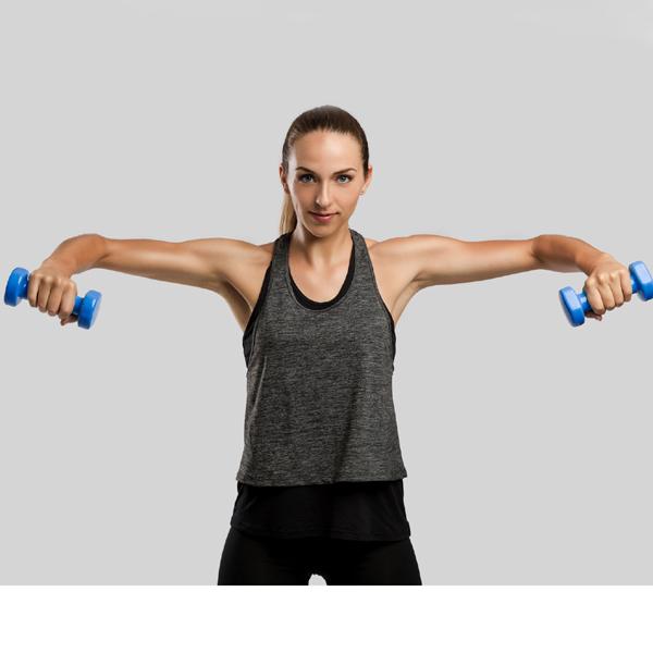 ejercicios para hombros con pesas
