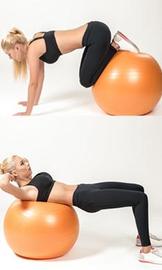 Ejercicios con 'fitball' para tonificar todo tu cuerpo