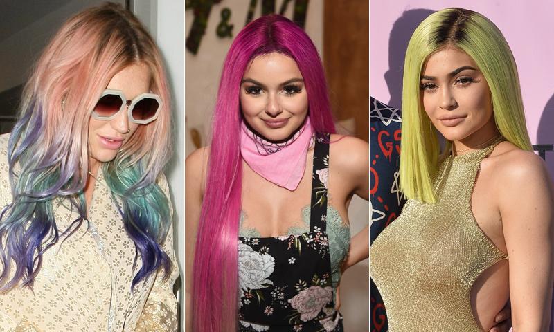 ¡A todo color! Ariel Winter y otras 'celebs' que apostaron por el pelo fantasía