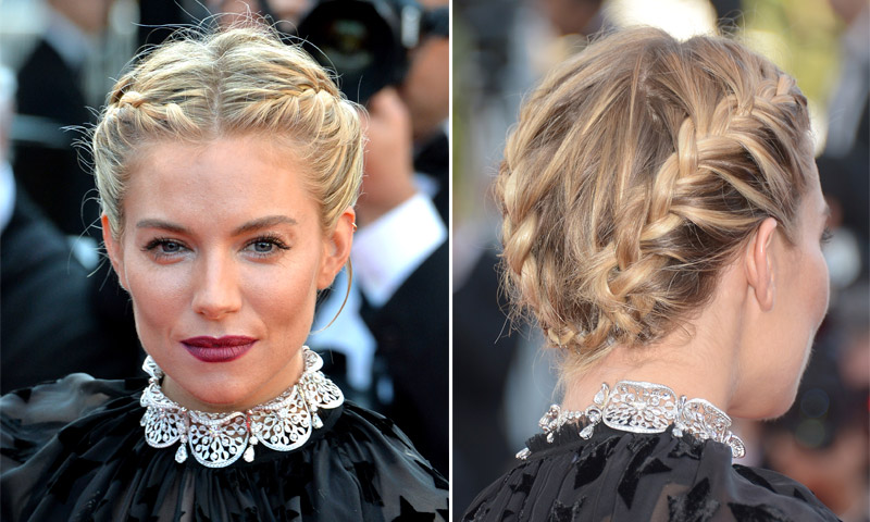 15 formas de recoger una melena corta por sienna miller marion cotillard c a foto - Peinados melena corta ...