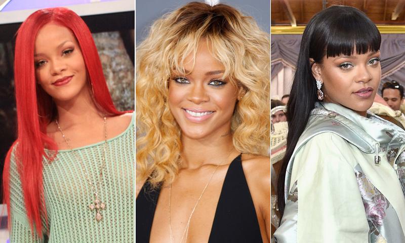 ¡Una mujer camaleónica! Así son algunos de los mejores cambios de 'look' de Rihanna