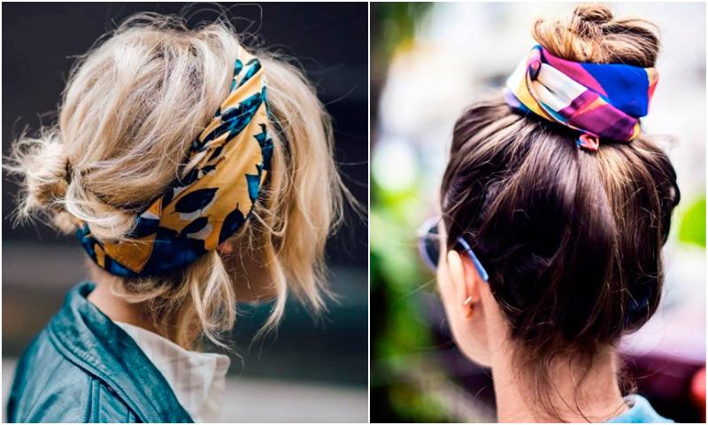De última generación peinados con pañuelo Imagen de cortes de pelo estilo - Peinados fáciles: 10 recogidos con pañuelo muy chic - Foto