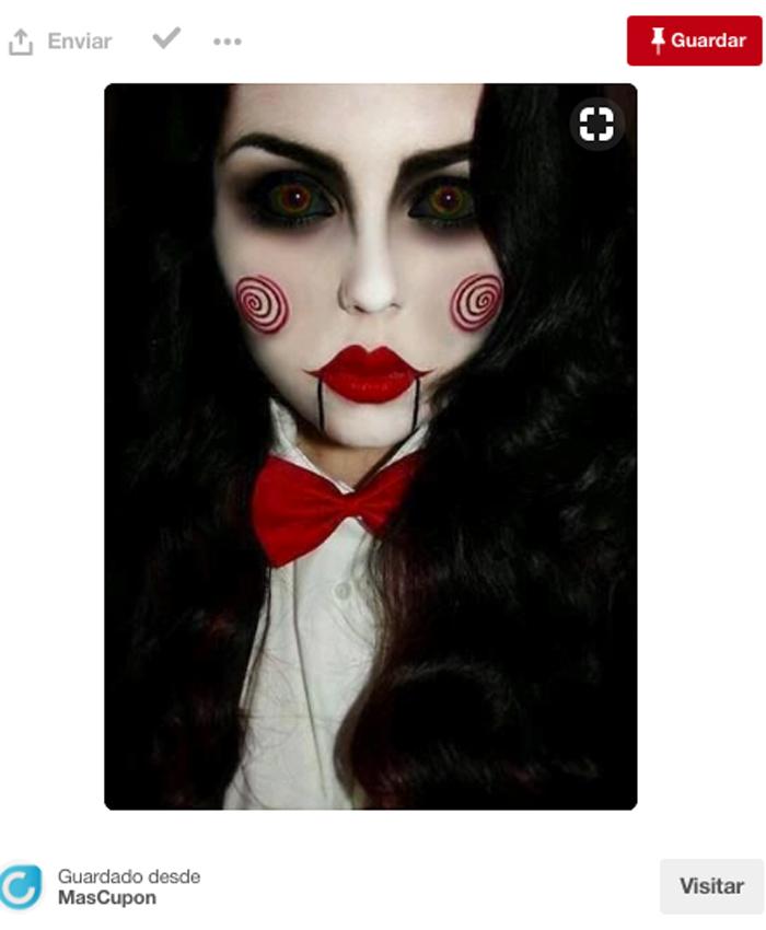 maquillaje de halloween inspirado en saw - Maquillajes De Halloween