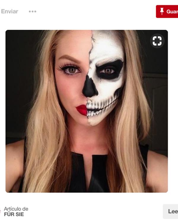 Tres Maquillajes Sencillos Para Completar Tu Disfraz De Halloween - Maquillaje-halowin