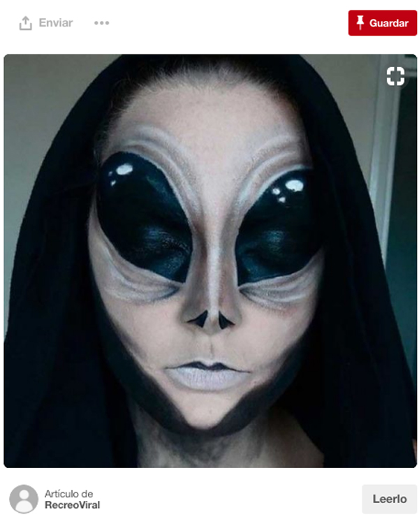 disfraz de aliengena - Maquillaje Halloween