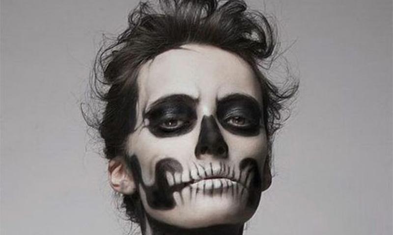maquillaje para esqueleto