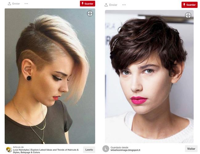Diferentes formas de llevar el pelo corto