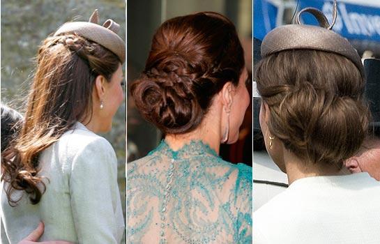 Elegantes moños, semirrecogidos, melena suelta... Un repaso por los últimos 'looks' de la Duquesa de Cambridge