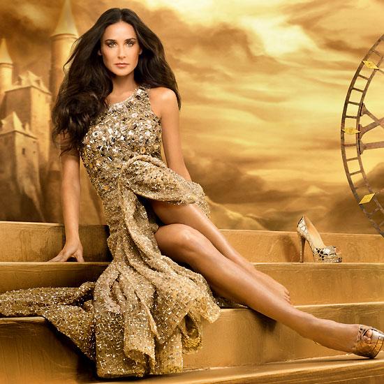 Demi Moore, una princesa de cuento de hadas como imagen de una firma cosmética