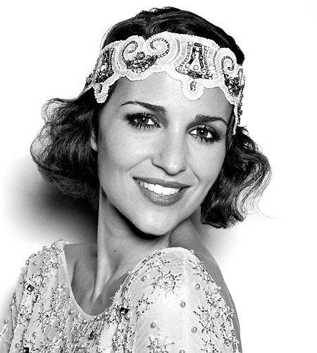 Paula Echevarría, imagen del 'glamour' de los locos años 20