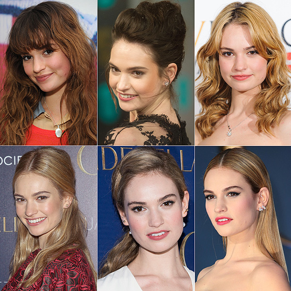 Lily James... el antes y el después de la princesa de moda