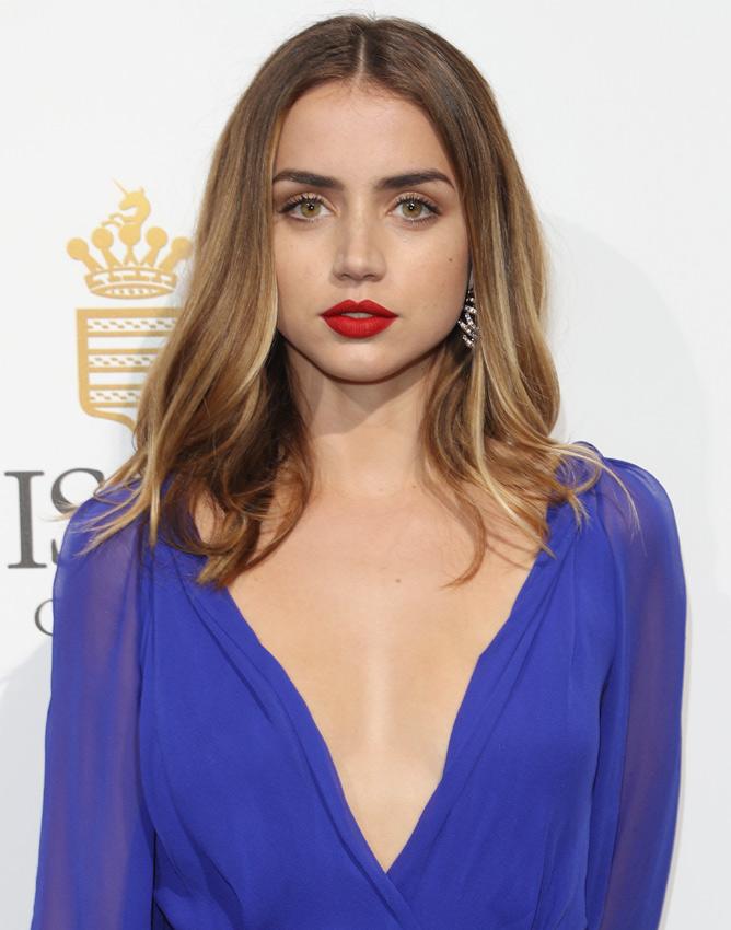 Ana de Armas Red Lipstick - Makeup Lookbook - StyleBistro