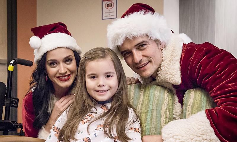 Ho, ho, ho! Así sorprendieron Katy Perry y Orlando Bloom a los niños de un hospital