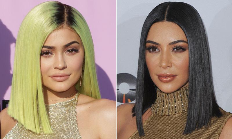 Kim Kardashian y Kylie Jenner, como dos gotas de agua en su último proyecto 'beauty'