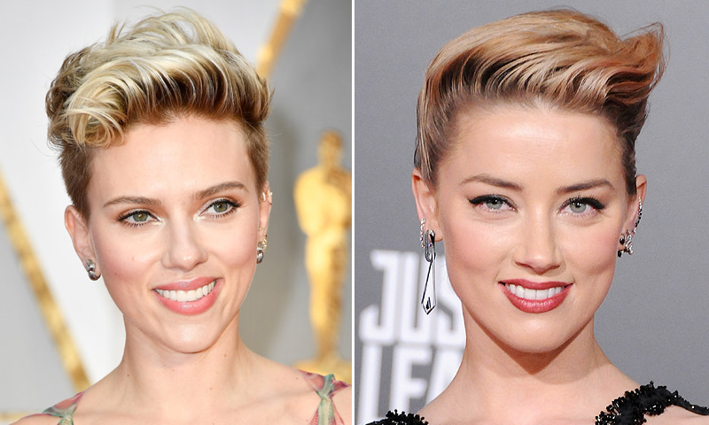 El peinado con truco que ha confundido a Amber Heard con Scarlett Johansson