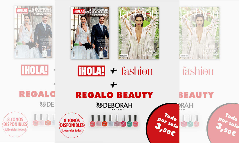 Compra esta semana el PACK de ¡HOLA! + FASHION y llévate de regalo una laca de uñas DEBORAH MILANO