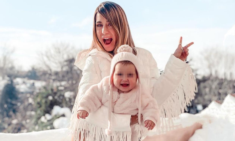 El espectacular 'antes y después' de Elena Tablada con su pequeña Camila