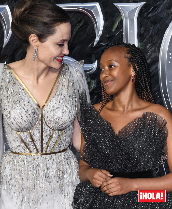 Angelina Jolie and her daughter Zahara