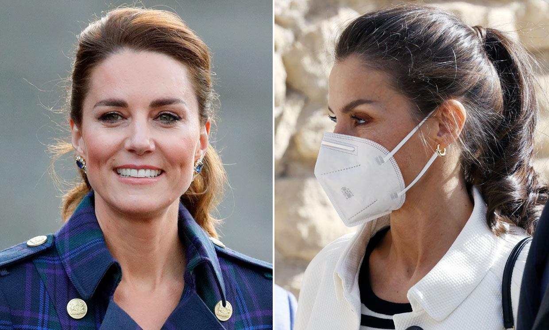 Doña Letizia y Kate Middleton, o cómo la coleta puede ser el peinado fácil más bonito
