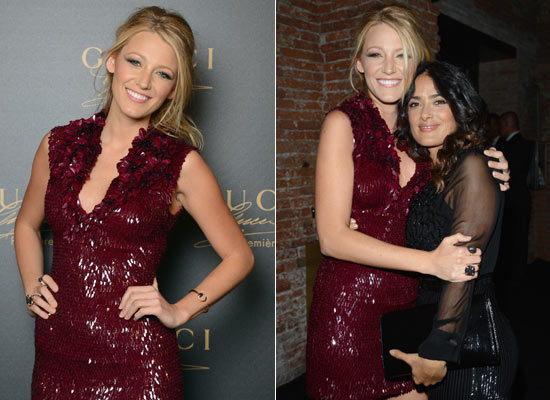 Blake Lively y Salma Hayek derrochan 'glamour' en la 'première' de un nuevo perfume en Venecia