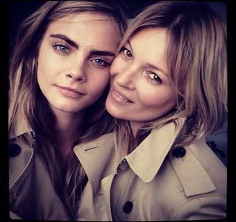 Cara Delevingne y Kate Moss, pura esencia 'british'