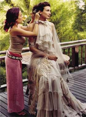 Un peinado romántico y natural