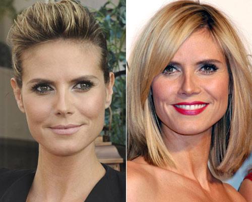¿Quieres ver cómo ha cambiado de 'look' Heidi Klum?