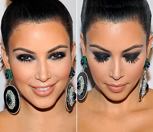 Kim Kardashian, con la técnica de \u0027ojos ahumados\u0027 o \u0027