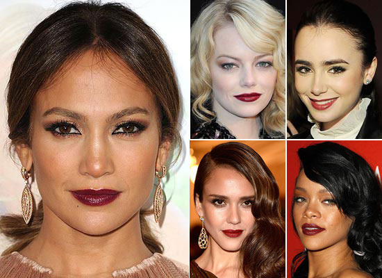 Tendencias: 'Celebrities' con labios oscuros
