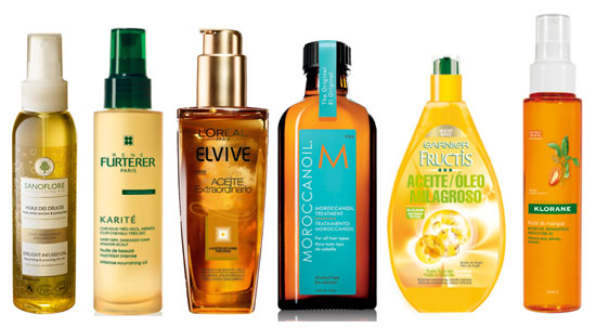 De izquierda a derecha Huile des Délices, aceite seco protector y nutritivo, para cuerpo, rostro y cabello, de Sanoflore; Karité Aceite de Belleza