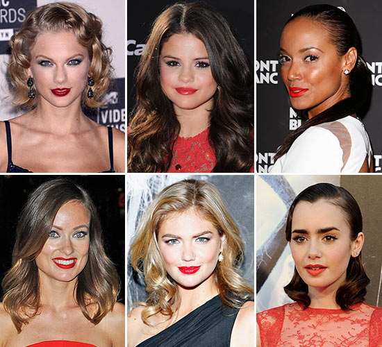 'Celebrities' con labios rojos