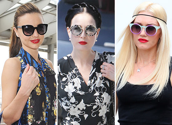 'Celebrities', con labios rojos