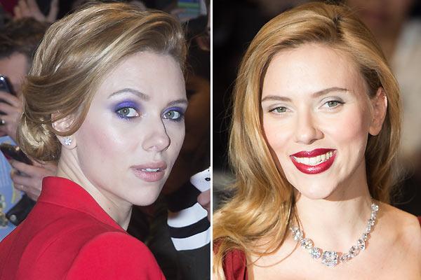 Scarlett Johansson: ¿labios intensos o mirada en malva?
