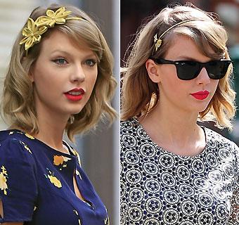 Taylor Swift te enseña a sacar partido a la diadema