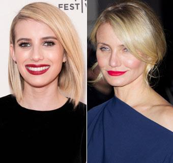 Cameron Diaz, Emma Stone, Kate Upton... las actrices se apuntan a una primavera ¡de labios a todo color!