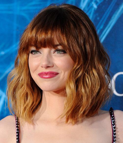 El 'look de Emma Stone con flequillo ¡aprueba con nota!