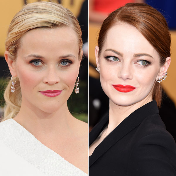 Duelo 'beauty': Coletas 'vs' melenas sueltas en los SAG Awards