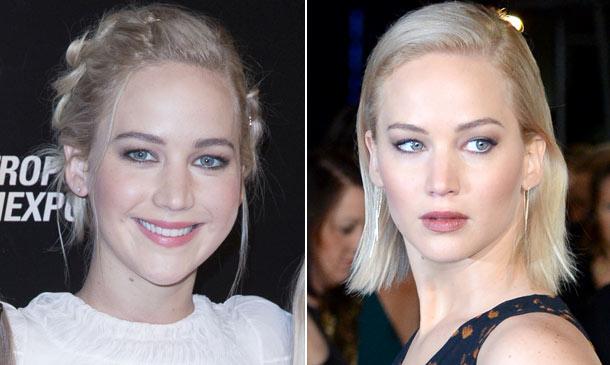 Jennifer Lawrence: pelo suelto 'vs.' recogido, ¿con cuál te quedas?