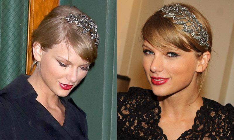 Un recogido con diadema-joya como Taylor Swift, paso a paso