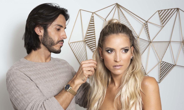 Aprende a hacerte el semirecogido de tendencia, con Ana Fernández y su peluquero Gabriel Llano