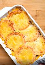 Berenjenas al horno con queso gratinado